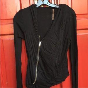 Rick Owens Lilies.  Italy 42 asymmetric jacket